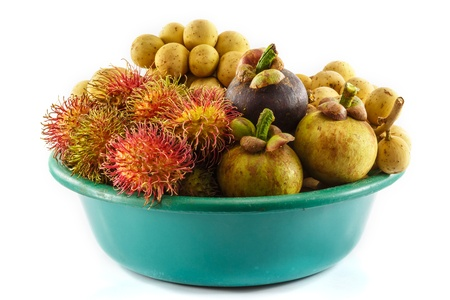 All seasons Thai fruit mangosteen,rambutan and longkong photo