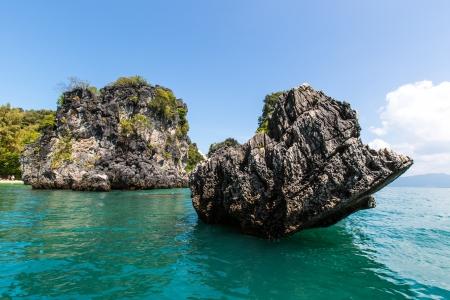 blue water at  Koh Hong, Krabi Province, Thailand Stock Photo - 17587900