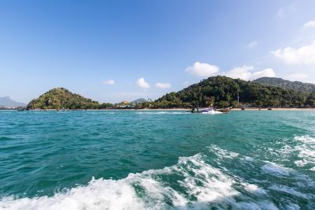 Ilha tropical do mar de Andaman, na prov