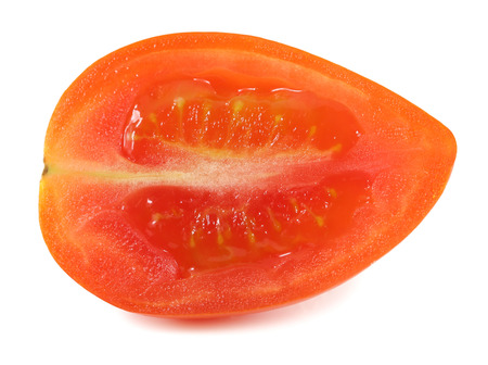 Fatias de tomate isolado no branco Banco de Imagens