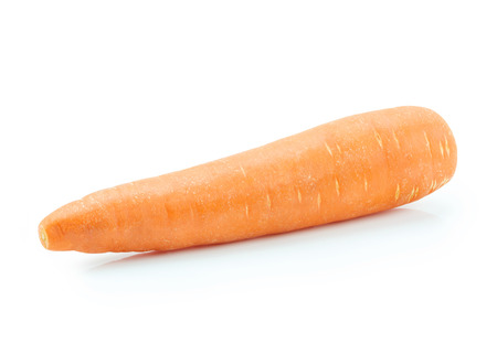 Fresh and sweet carrot isolated on white background Stock Photo