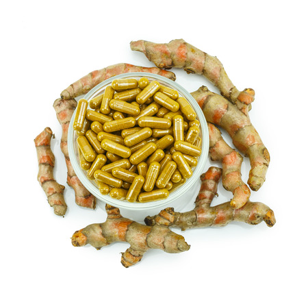 Turmeric (Curcuma longa L.) root and turmeric capsule powder for alternative medicine ,spa products and food ingredient.
