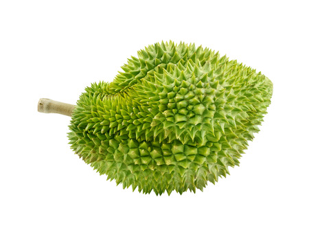 King of fruits, durian isolated on white background