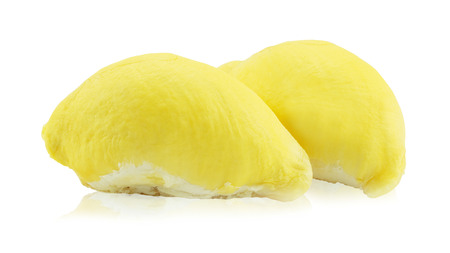 King of fruits, durian on white background with clipping path.