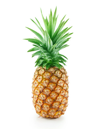 Fresh pineapple isolated on white background.
