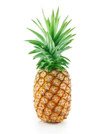 Fresh pineapple isolated on white background.