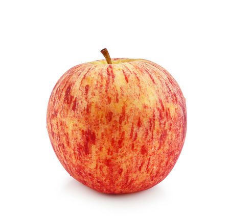 Red apple on a white background. Stock Photo