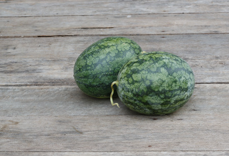 watermelon on a wood background Stock Photo