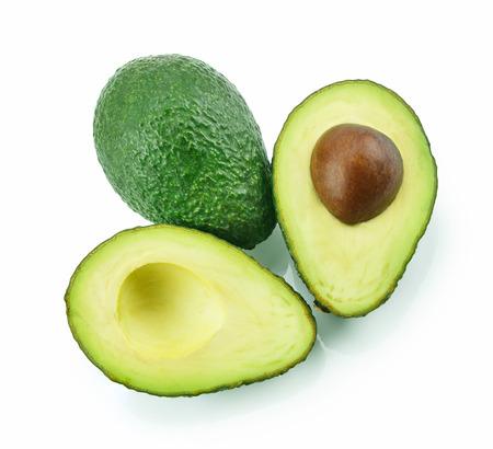 Avocado isolated on a white background. Stock Photo