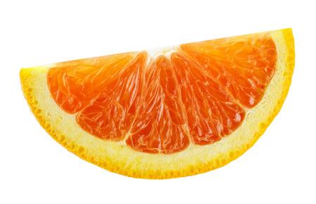 laranja fatia isolada no fundo branco Banco de Imagens