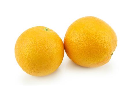 Oranges fruit isolated on white background