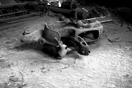 abandonment: Vespa B & W