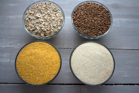 spelt: the corn wheat oat buckwheat porridge