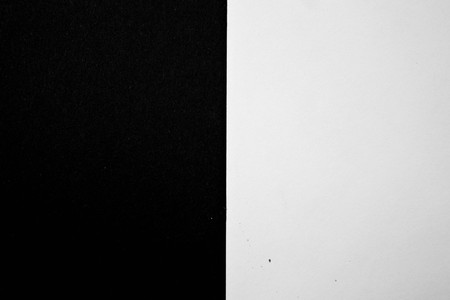 a white and black side