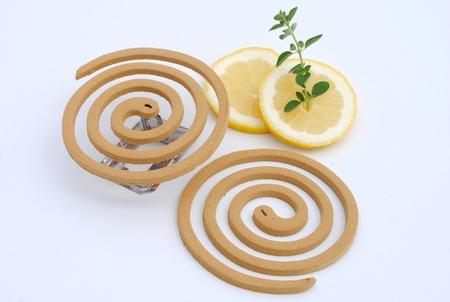 lemon grass  mosquito fumigator with lemon slices
