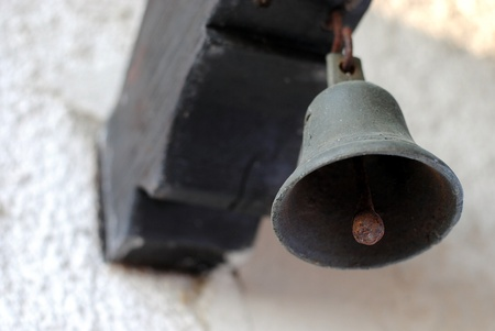 old iron bell outside of the house Stock Photo