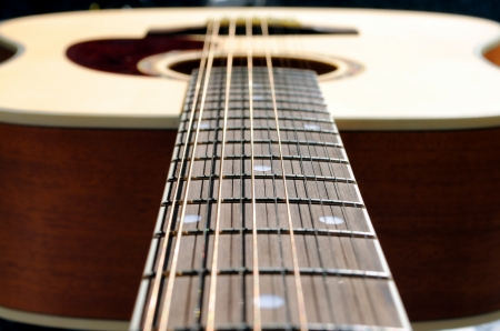 close-up of an acoustic twelve strings guitar Stock Photo
