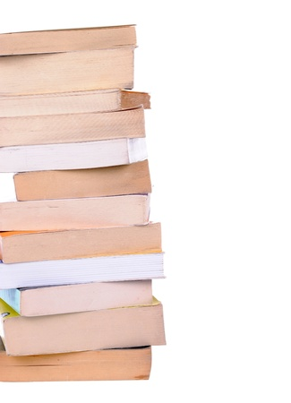 pila di libri isolato su sfondo bianco