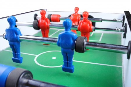 close up of a foosball, isolate on white background photo