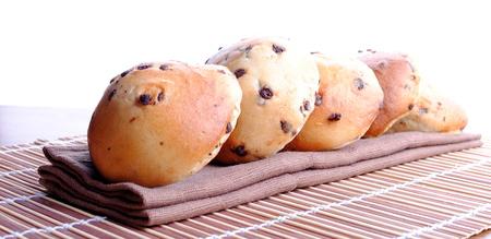 placemat: pane dolce con gocce di cioccolato pi� bamb� placemat Archivio Fotografico