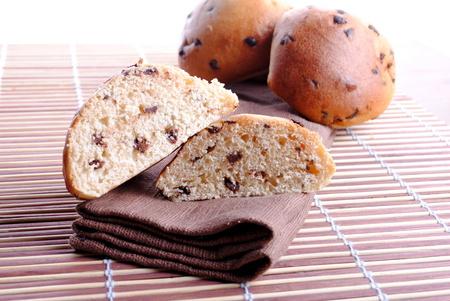 pane dolce con gocce di cioccolato pi� bamb� placemat Archivio Fotografico