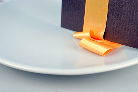 close up of wedding table set, space for your text