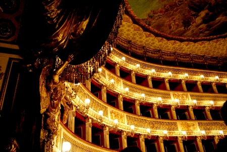 The stages of the Teatro San Carlo in Naples Stock Photo - 23105918