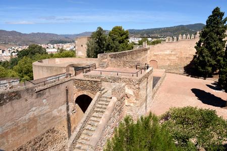 malaga: Gibralfaro Castle, Malaga, Spain Editorial