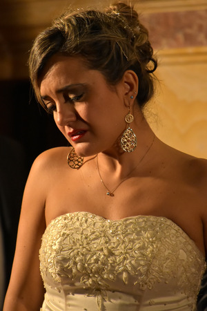 the soprano: Soprano Fulvia Mastrobuono in Verdis La Traviata