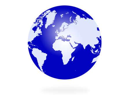 vector globe on white background