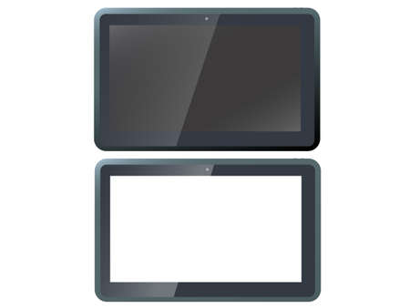 tablet pc isolated - a vector tablet computer on white background Stock Vector - 19419343