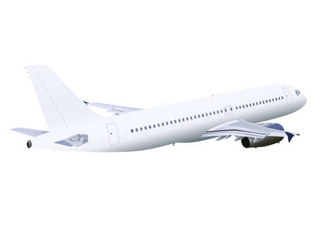 airplane isolated on white background,image