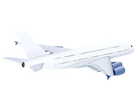 airplane, vector airplane on white background, airplane illustration Illustration