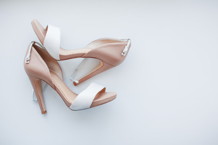 clasps: womens shoes on white background