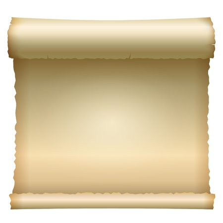 oorkonde: Geopend scroll Stock Illustratie