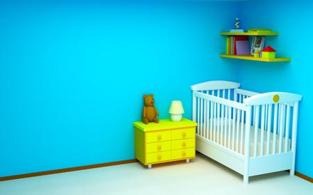 Blauwe baby Stockfoto