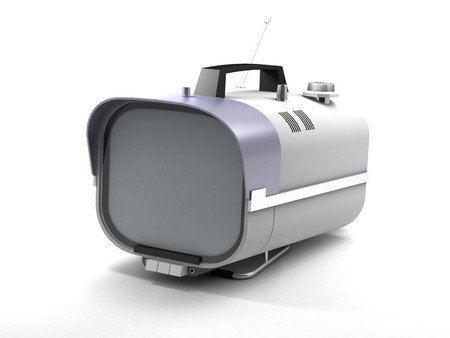 Stylish retro TV mobile sixties. TV on a white background