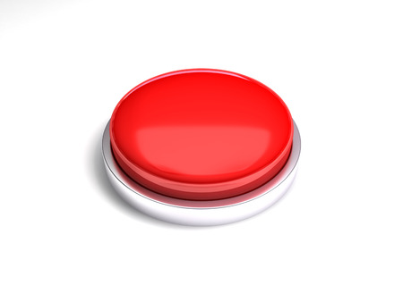 3d image of red button. White background. photo