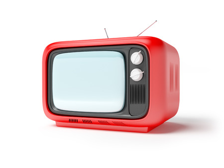 seventies: retro tv in seventies style isolated on white