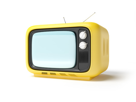 the seventies: retro tv in seventies style isolated on white