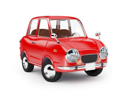 retro auto rood in jaren '60 stijl op een witte achtergrond Stockfoto