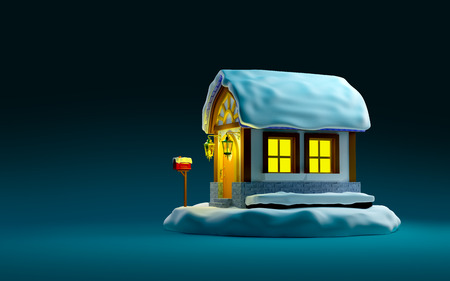 christmas night: christmas fairy house