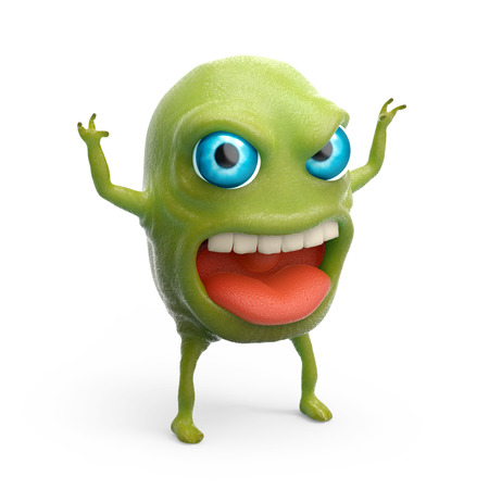 slimy: snot slime monster Stock Photo