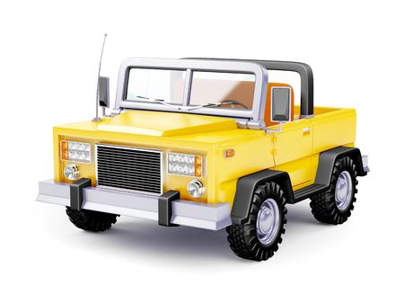 jeep: cartoon safari suv yellow