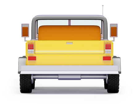 4wd: cartoon safari suv yellow back