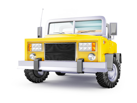 cartoon safari suv yellow