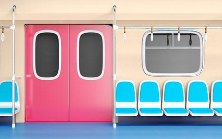 Interior del tren plano Foto de archivo - 80060940