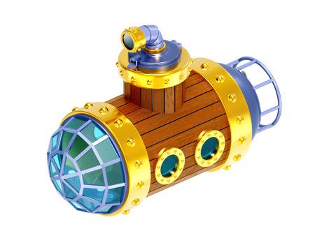 old wooden submarine Фото со стока