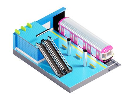 subway station isometric