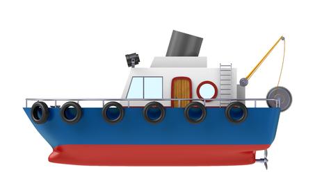 Visboot illustratie